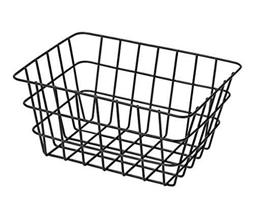WENKO Cesta de baño Viana negro mate - Moderna cesta de almacenaje para el baño, el aseo para huéspedes y el hogar en general, Metal, 18 x 25 x 12 cm, Negro