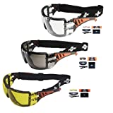 ToolFreak Rip Out Safety Glasses Clear, Smoke Yellow Tinted...