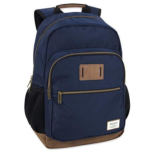 Benrus Bag - Outdoor Rucksack & Hiking and Student Flight Backpack for Men (Navy)
