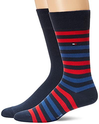 Tommy Hilfiger 472001001, Calcetines para Hombre, Rojo (Original 085), 43/46 (Tamaño del fabricante:043)