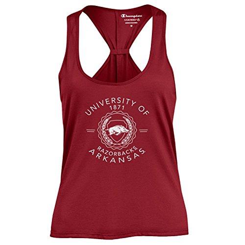 Champion NCAA Women's Swing Silouette Racer Back Tank Top, Arkansas Razorbacks, X-Small