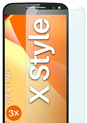 moex Schutzfolie matt kompatibel mit Motorola Moto X Style - Folie gegen Reflexionen, Anti Reflex Bildschirmschutz, Matte Bildschirmfolie - 3X Stück