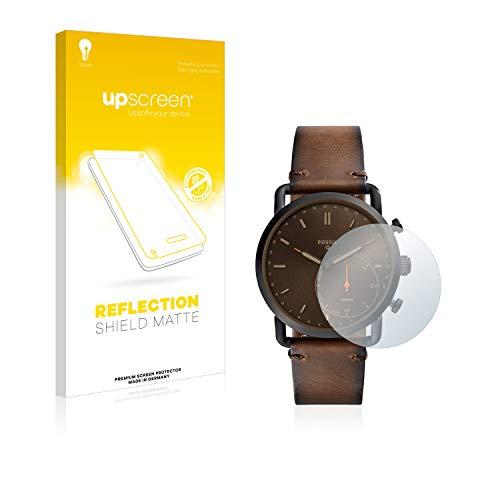 upscreen Entspiegelungs-Schutzfolie kompatibel mit Fossil Q Commuter – Anti-Reflex Bildschirmschutz-Folie Matt