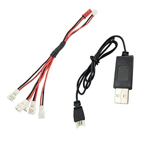 Batería De Litio 1 A 5 Cable De Carga + Cable De Carga USB para A20 A20W Quadcopter RC Helicopter Drone