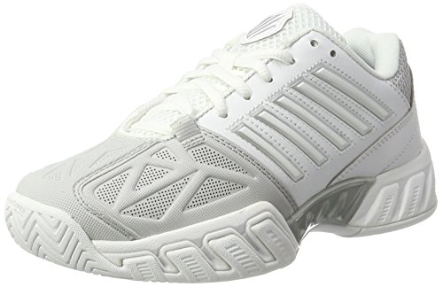 K-Swiss Women's Bigshot Light 3 Tennis Shoes (White/Silver) (6.5 B(M) US)