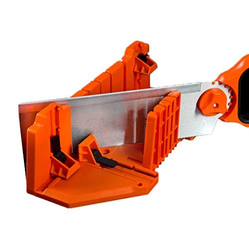 Idyandyans Spann Gehrungssäge Box 14 Zoll Kunststoff Holzbearbeitung Doppelseitige Zähne 90 ° 45 ° -Winkel Slot Typen Sägebox