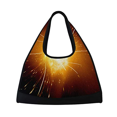 Sports Bag Galaxy Stars Space Starry Universe Night Sky Mens Duffle Luggage Travel Bags Womens Lightweight Gym bag