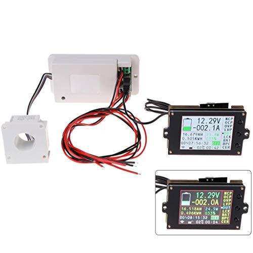 CHBC DC 500V Wireless Digital Voltmeter Ammeter Multimeter Coulometer Battery Power Meter 100A 200A 500A (500A)