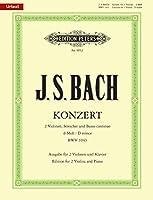 BACH - Doble Concierto en Re menor (BWV:1043) para 2 Violines y Piano (Urtext) (Oistrakh/Weismann)