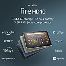 "All-new Fire HD 10 tablet, 10.1"", 1080p Full HD, 32 GB, latest model (2021 release), Denim"