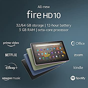 All-new Fire HD 10 tablet 10.1  1080p Full HD 32 GB latest model  2021 release  Black