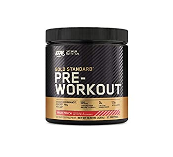 Optimum Nutrition Gold Standard Pre-Workout Vitamin D for Immune Support with Creatine Beta-Alanine and Caffeine for Energy Keto Friendly Fruit Punch 30 Servings  Packaging May Vary