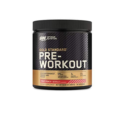 OPTIMUM NUTRITION Gold Standard Pre-Workout with Creatine, Beta-Alanine, and Caffeine for Energy, Keto Friendly, Fruit Punch, 30 Servings (Packaging May Vary)