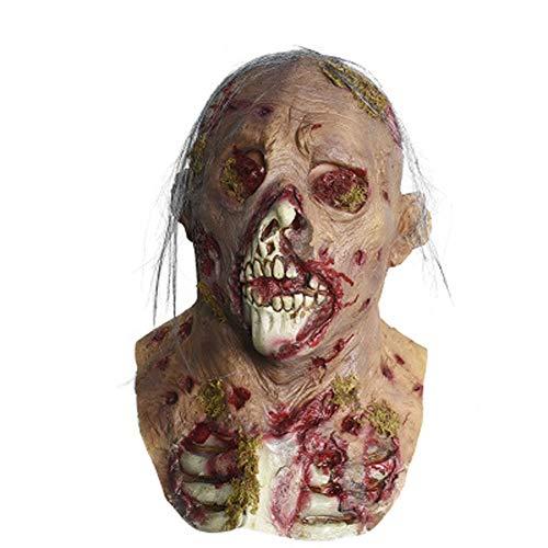 EXUVIATE Halloween Maske Sinister Die Horror-Maske Aus Latex Horror Zombie Kopf Sets Halloween Kostüm