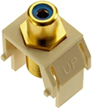 Legrand - On-Q WP3464LA Blue RCA to FConnector, Light Almond