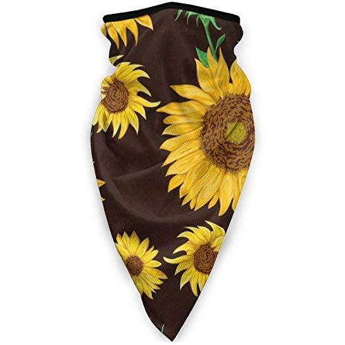 Traveler Gamtassen aan de hals bivakmuts ademend zonnebloemen collectie winddicht halswarmer sjaal stofdicht