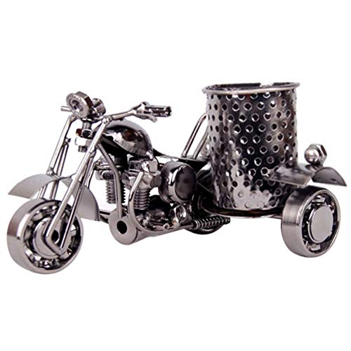 Creative Metal Art Crafts Pen Pencil Holder Harley The Motorcycle Design Pen Holder Pencil Organizer for Desk Office Desktop Storage Accessories Decorative Pen Stand