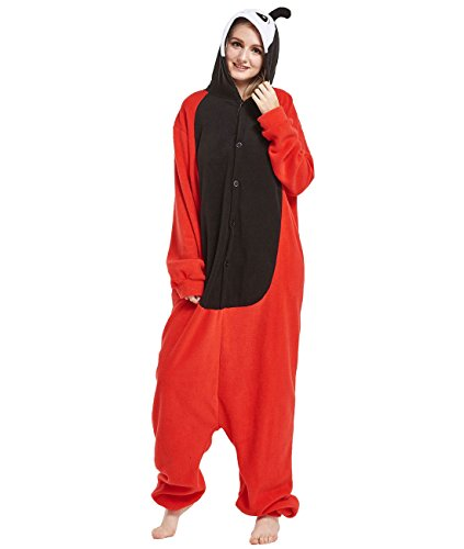 Yimidear Cosplay Ropa de Dormir, Unisex Adulto Pijamas Animales Disfraz Traje de Dormir Kigurumi Onesie (S, Mariquita)