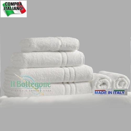 Asciugamano Telo Bagno Per Forniture Alberghiere Antismagliature 100% Cotone 6pz Bianco …