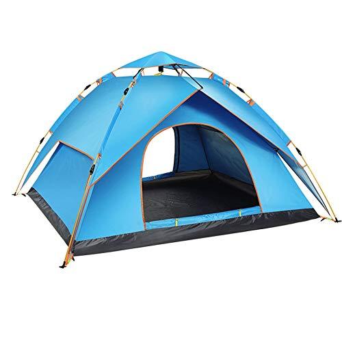 3-4 personen campingtent, automatische pop-up tent, buiten, regenbestendig, dubbellaags, reistrand tent.