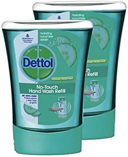 Dettol No-Touch Hand Wash Refill Hydrating Cucumber Splash 250ml (Pack of 2)