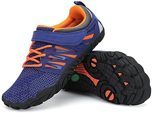 SAGUARO Minimalistas Zapatillas de Trail Running Niños Zapatos de Agua Zapatillas de Deporte Transpirables para Exterior Interior Azul Claro Gr.28
