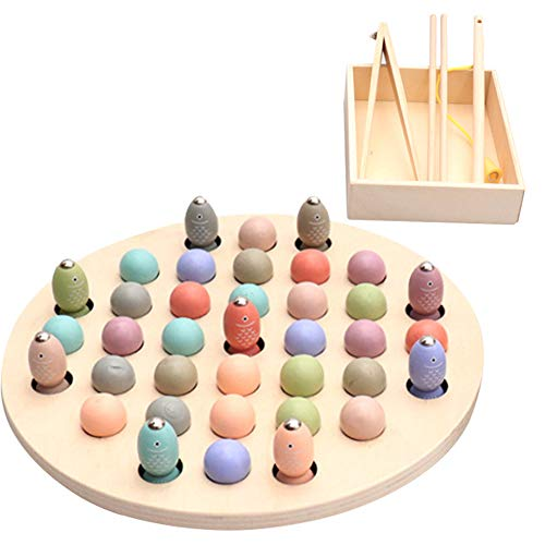 Lowest Price! Oliwui Kids Early Learning Educational Montessori Color Sorting Wooden Math Toys Puzzl...