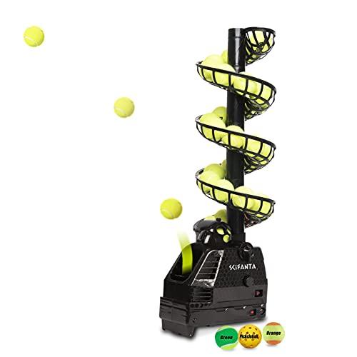 SCIFANTA Adjustable&Portable Tennis Ball Tosser w/Oscillation for Self-Practice Ball Launcher for...