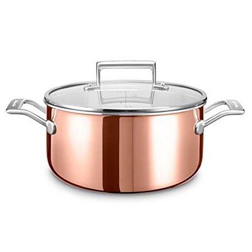 KitchenAid kookpan, roestvrij staal, zilver/koper, 24 cm