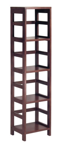 Winsome Wood 92514 Leo Model Name Shelving, Small, Espresso