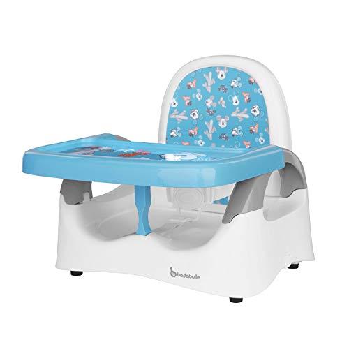 Badabulle Komfort Sitzerhöhung Mickey Mouse, Boostersitz für unterwegs, kompakt zusammenklappbar 20cm, weiß-blau