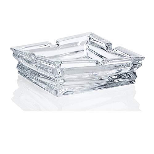 CKH loodvrije glazen bak, Europese vierkante zakbak, eenvoudige asbak, creatief cadeau voor de woonkamer
