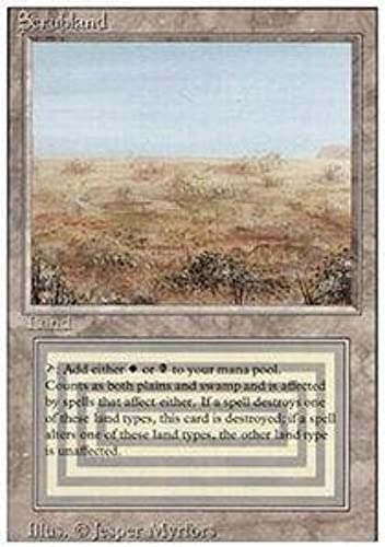 Scrubland by Magic  the Gathering