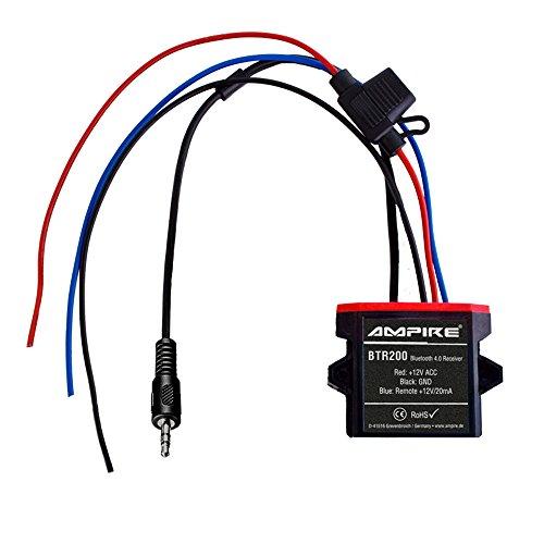 AMPIRE BTR200 universal Bluetooth-Adapter zum Musikstreaming mit Auto-Remote (wasserdicht, AUX 3,5mm Klinke) perfekt für Kfz/Auto/Home Hi-Fi/Boot/Marine