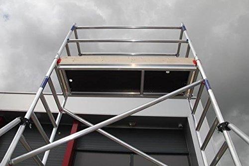 ASC Rollgerüst, Fahrgerüst 3,0-7,85 m Arbeitshöhe, DIN EN 1004 & 1298, Gerüstklasse 3 (1, 4,85 m)