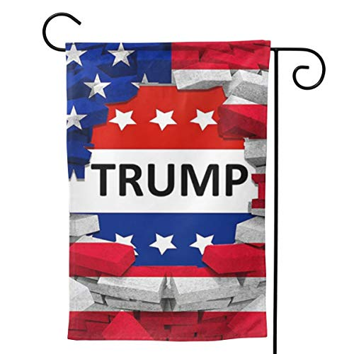 """UTWJLTL Garden Flag American USA Trump Flag Decorative Flag Double Sided 12.5"""" X 18"""" Weather Resistant Outdoor Welcome Flag for Yard Patio Garden Outdoor Decor"""