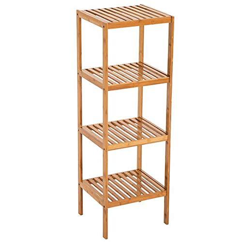 Ghvi Storage Organizer a cubi in legno robusto scaffale multifunzione salvaspazio scaffali scaffale a quattro strati