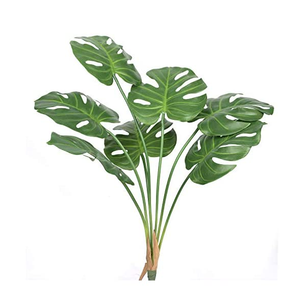 Artificial Palm Plants Leaves Faux Turtle Leaf Fake Tropical Large Palm Tree Leaves Imitation Leaf Artificial Plants for Home Kitchen Party Flowers Arrangement Wedding Decorations