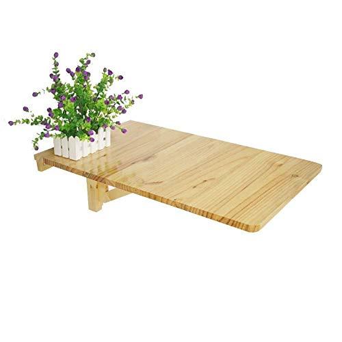 INTER FAST Mesa de comedor de madera maciza, plegable multifunción contra la pared, multicolor opcional, (color: color madera, tamaño: 70 x 45 cm)