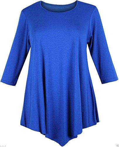 Swing jurk voor dames - tuniek/topje - ruimvallend/baggy-stijl - V-vorm - ronde hals/driekwart mouw
