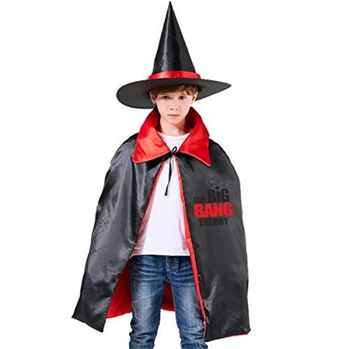 NUJSHF Big Bang Theory Unisex Kinder Kapuzenumhang Umhang Umhang Umhang Cape Halloween Party Dekoration Rolle Cosplay Kostüme Outwear