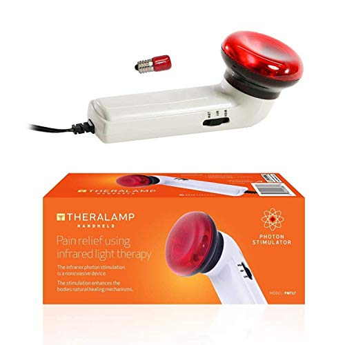 Red Light Therapy Infrared Heating Wand by Theralamp – Handheld Heat Lamp with Replacement Bulb – Muscle Pain Relief, Increased Blood Circulation