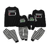 Pyjamas de Famille Ensemble Famille Correspondant Vêtements Hommes Femmes Enfant Bébé Batterie Imprimer Pyjamas Ensemble