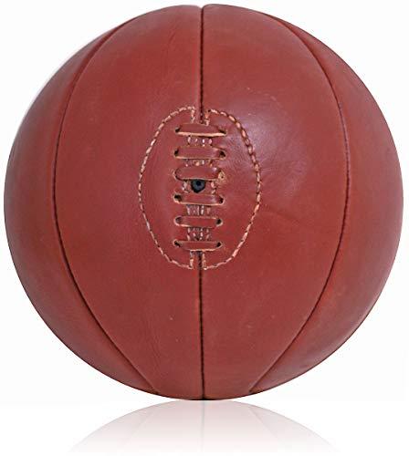 Vintage cuero tamaño completo baloncesto estilo retro mano cosido con cordones bola