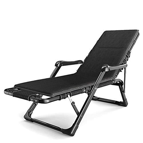 Ligstoel Eenpersoons opklapbed matras, Tuin gewatteerde ligstoel Massage Lounge stoel Zero Zwaartekracht Oversized Home Opvouwbare Lounge stoel Zonnebank