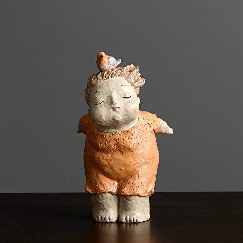 Statues Sculpture Figurines Statuettes,Kreative Harz Schöne Orange Dicke Frauen Puppe Bild Kunst Figur Skulptur Sammlerstücke, Schmuck Desktop Handwerk Kunst Dekor Statuetten Für Innen Wohnzimmer