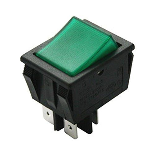 Electro dh 11.405.IL/NV - Interruptor basculante bipolar luminoso empotrable, con tecla de color Verde