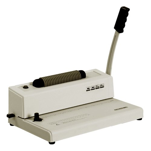 TruBind Coil-Binding Machine - with Electric Coil Inserter - TB-S12 - Professionally Bind Books and Documents - Office or Home Use - Adjustable Hole-Punching and Paper-Size Settings