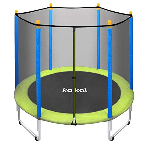 Kalkal Trampoline for Kids 5FT Mini Toddler Trampoline with Enclosure Net for Indoor & Outdoor 220lbs Weight Capacity, for Kids, Gifts for Boy and Girl