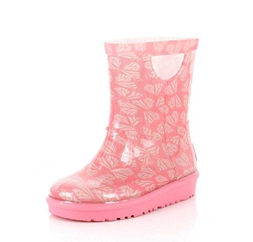 Kids Gummistiefel T Rahjee Butterflies, Pink Azalea Kinder EU 23,5